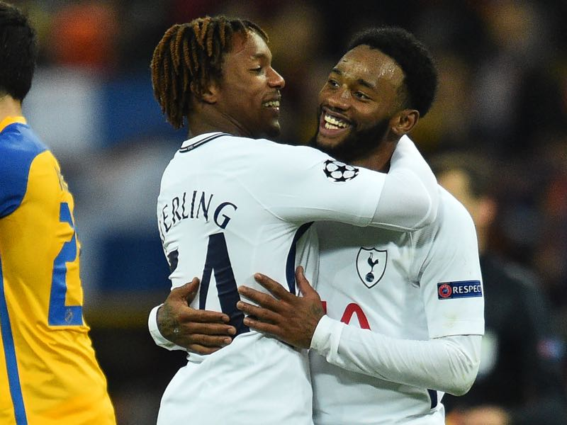 Tottenham had plenty to celebrate during the match. (GLYN KIRK/AFP/Getty Images)