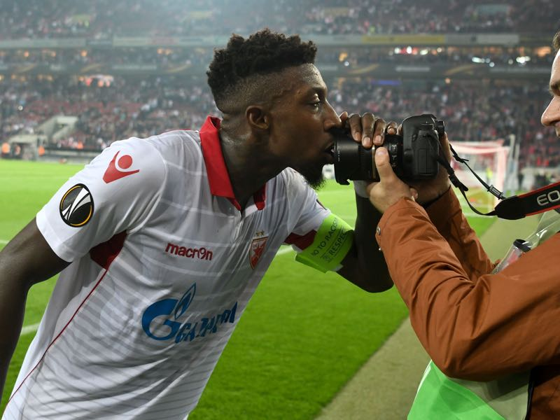 Mitchell Donald is Red Star Belgrade's player to watch. (PATRIK STOLLARZ/AFP/Getty Images)