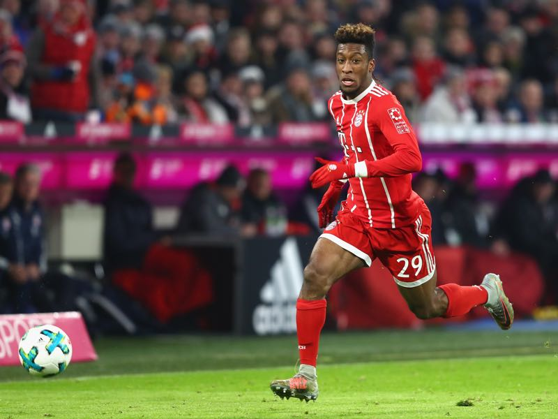 Kingsley Coman has been in excellent form in recent weeks. (Photo by Alexander Hassenstein/Bongarts/Getty Images)