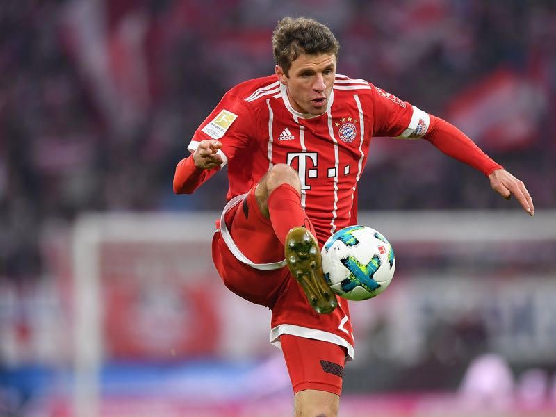 Thomas Müller is back in Bayern's line-up. (Photo by Sebastian Widmann/Bongarts/Getty Images)