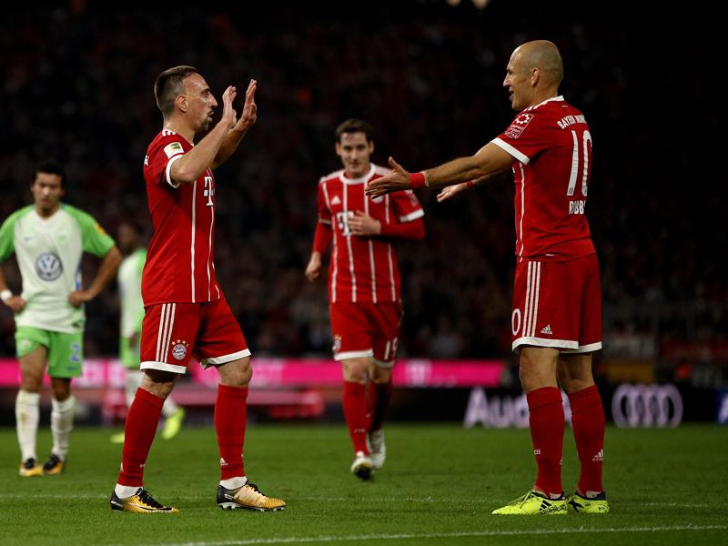 The future of free agents Frank Ribéry (l.) and Arjen Robben (r.) remains in doubt. Photo by (Adam Pretty/Bongarts/Getty Images)