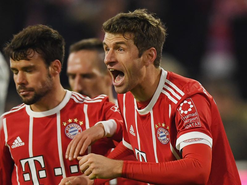 Thomas Müller was the man of the match against Werder Bremen. (Photo by Matthias Hangst/Bongarts/Getty Images)