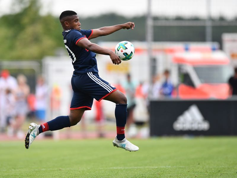 Frank Evina is one of the biggest talents in Bayern's youth setup. (Photo by Sebastian Widmann/Bongarts/Getty Images)