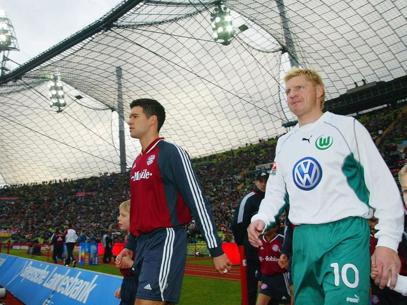 Goretzka - Bayern lack a midfield general of Michael Ballack's (l.) and Stefan Effenberg's (r.) stature.