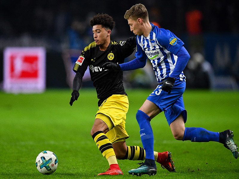 Hertha vs Dortmund - Sancho is in action