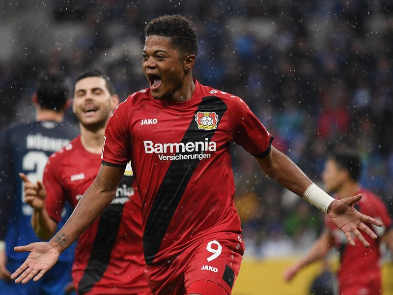 Hoffenheim vs Leverkusen - Leon Bailey cannot stop scoring right now. (Photo by Matthias Hangst/Bongarts/Getty Images)