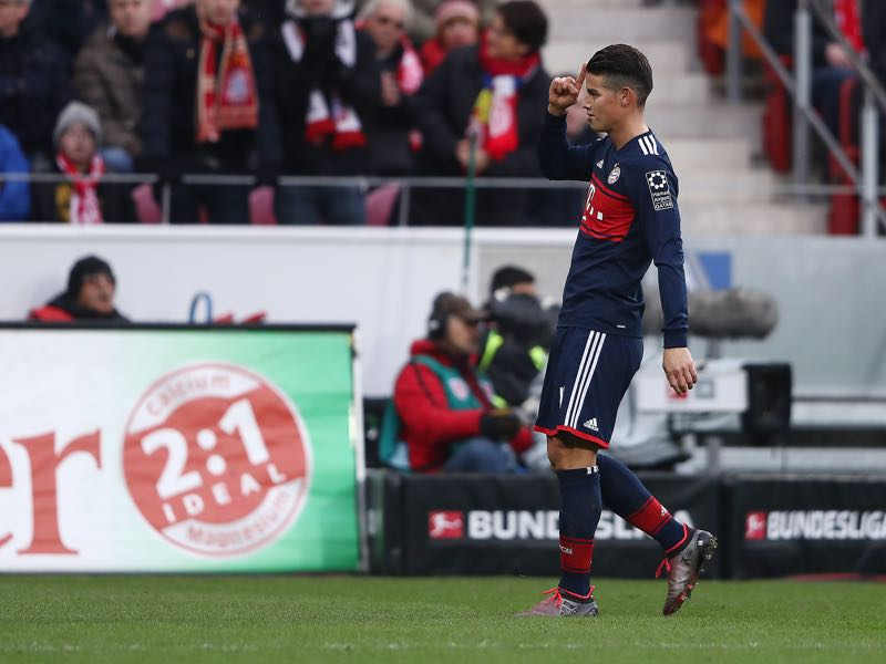 Mainz vs Bayern - James Rodríguez was the player of the match. (Photo by Alex Grimm/Bongarts/Getty Images)