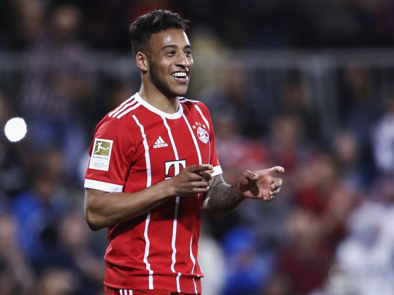 Wolfsburg vs Bayern - Corentin Tolisso was the player of the game. (Photo by Alex Grimm/Bongarts/Getty Images)