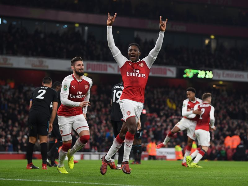 Danny Welbeck is expected to get a rare start for Arsenal. (Photo by Shaun Botterill/Getty Images)