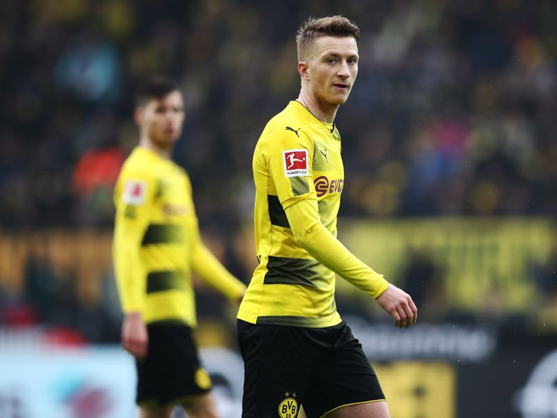 Marco Reus is back in action for Dortmund completing an exciting attacking quartet for the Yellow and Blacks. (Photo by Oliver Hardt/Bongarts/Getty Images)