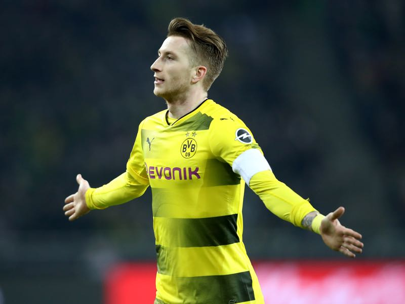 Marco Reus was the difference maker against Borussia Mönchengladbach on Sunday afternoon. (Photo by Christof Koepsel/Bongarts/Getty Images)