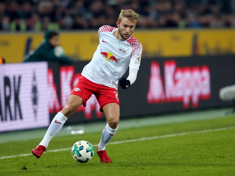 Konrad Laimer has been converted to play as a right-back. (Photo by Christof Koepsel/Bongarts/Getty Images)