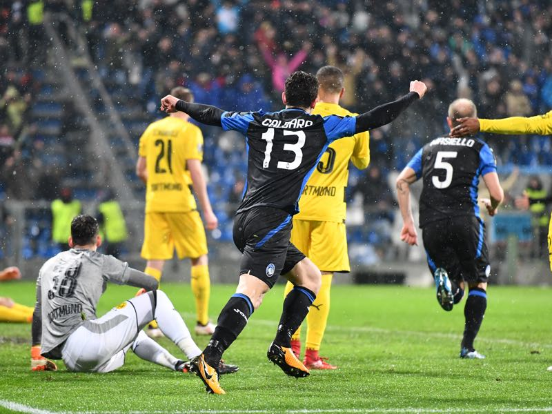 Atalanta took a lead into the second leg. (VINCENZO PINTO/AFP/Getty Images)