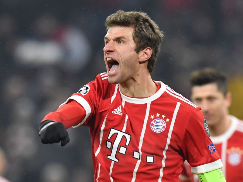 Thomas Müller was the player of the match. (THOMAS KIENZLE/AFP/Getty Images)