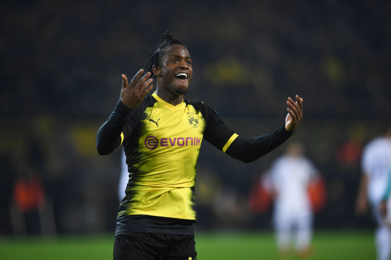 Dortmund vs Atalanta - Michy Batshuayi rescued Dortmund from defeat with two second half goals. (PATRIK STOLLARZ/AFP/Getty Images)
