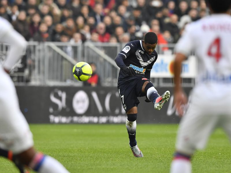 Malcom has a fantastic left-footed shot. (NICOLAS TUCAT/AFP/Getty Images)