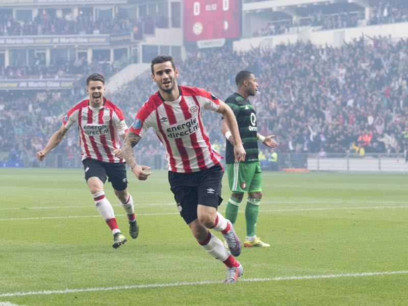 Gaston Pereiro is outstanding at times, but he does not always seem a perfect fit at PSV. (OLAF KRAAK/AFP/Getty Images)