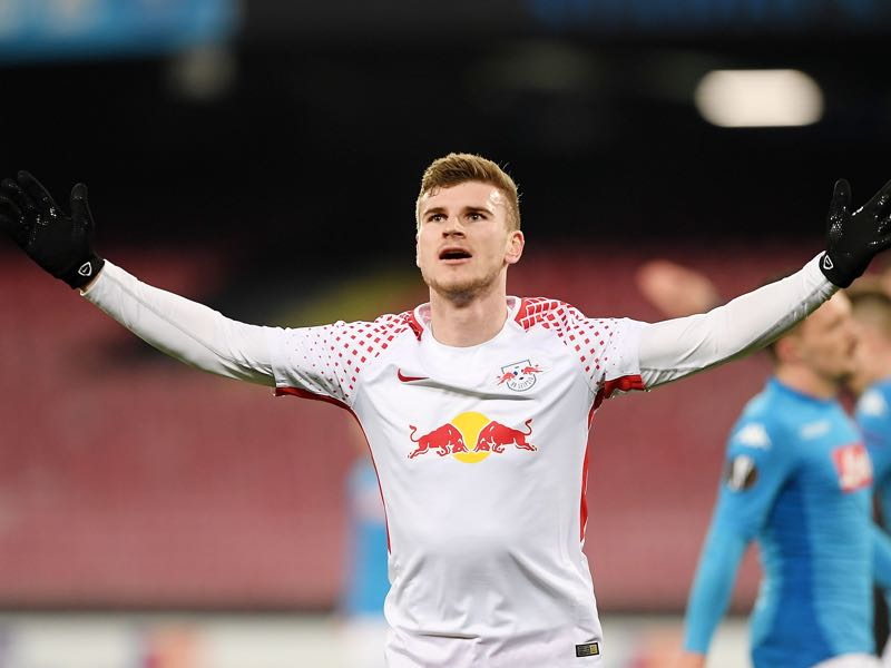 Timo Werner scored twice to win the Futbolgrad Man of the Match award. (Photo by Francesco Pecoraro/Getty Images)