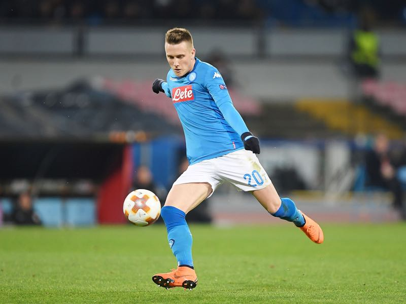 Leipzig vs Napoli - Piotr Zielinski was the player of the game. (Photo by Francesco Pecoraro/Getty Images)