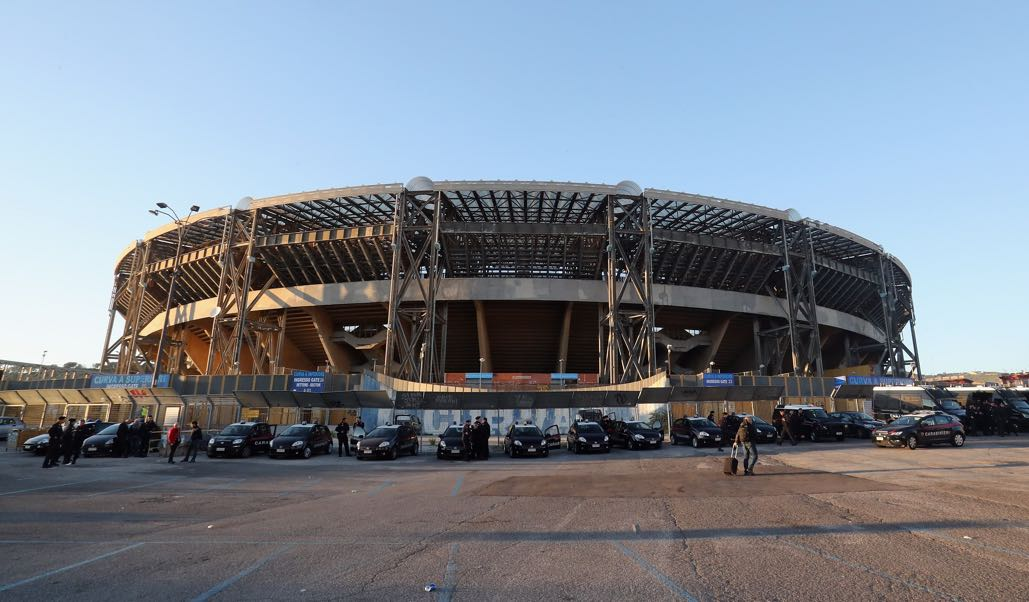 Napoli vs RB Leipzig will take place at the San Paolo in Napoli. (Photo by Maurizio Lagana/Getty Images)