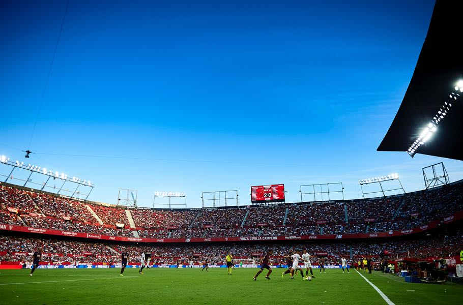Sevilla vs Manchester United will take place at the Ramón Sánchez Pizjuan. (Photo by Aitor Alcalde/Getty Images)