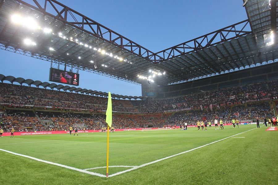 Milan vs Arsenal will take place at the San Siro in Milan. (Photo by Marco Luzzani/Getty Images)