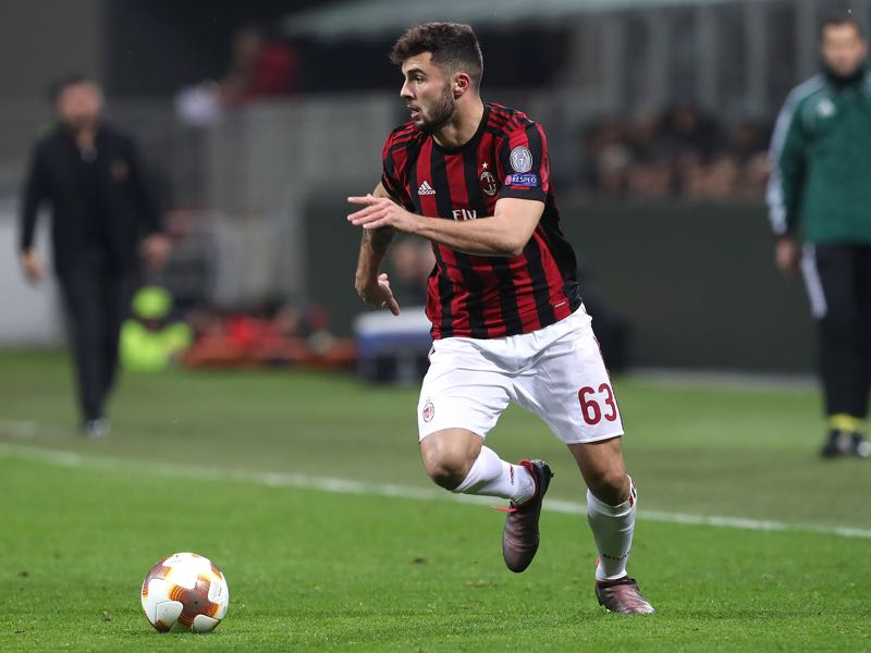 Patrick Cutrone has been on form for Milan this season. (Photo by Marco Luzzani/Getty Images)