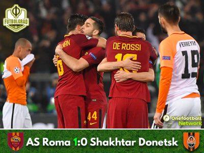 Roma vs Shakhtar Donetsk – Champions League – Match Report