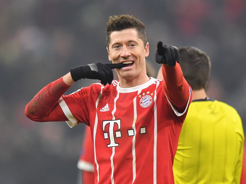 Robert Lewandowski loves to score against Augsburg. (Photo by Sebastian Widmann/Bongarts/Getty Images)