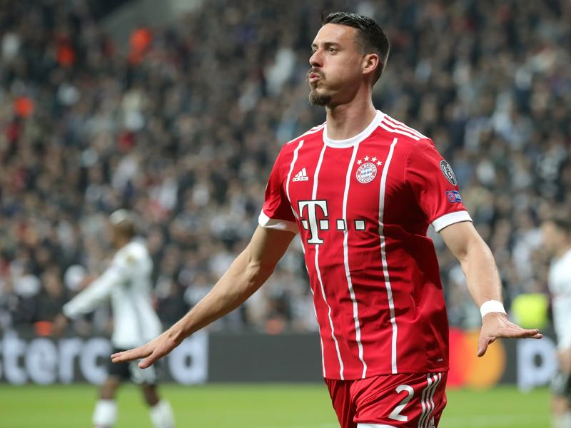 Besiktas vs Bayern München - Sandro Wagner restored Bayern's two goal lead in the second half. (Photo by Alexander Hassenstein/Bongarts/Getty Images)