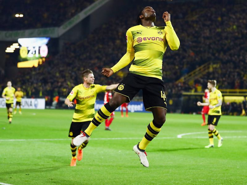 Dortmund vs Frankfurt - Michy Batshuayi was the player of the match. (Photo by Lars Baron/Bongarts/Getty Images)
