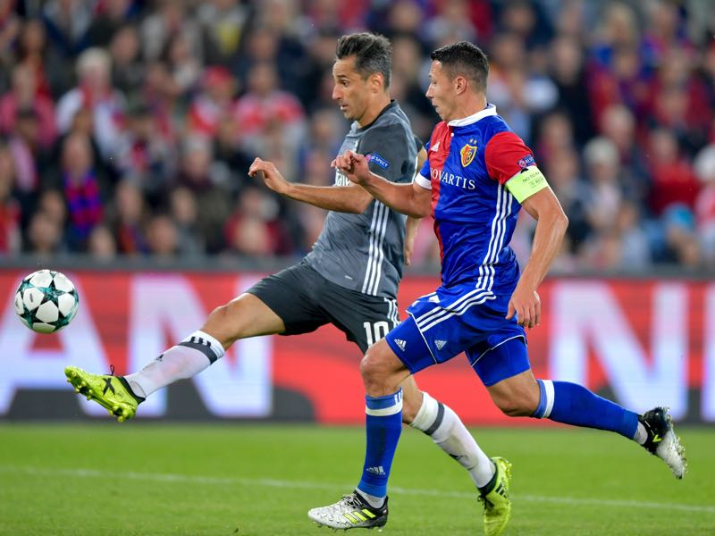 Marek Suchy (front) will be Basel's key player. (FABRICE COFFRINI/AFP/Getty Images)