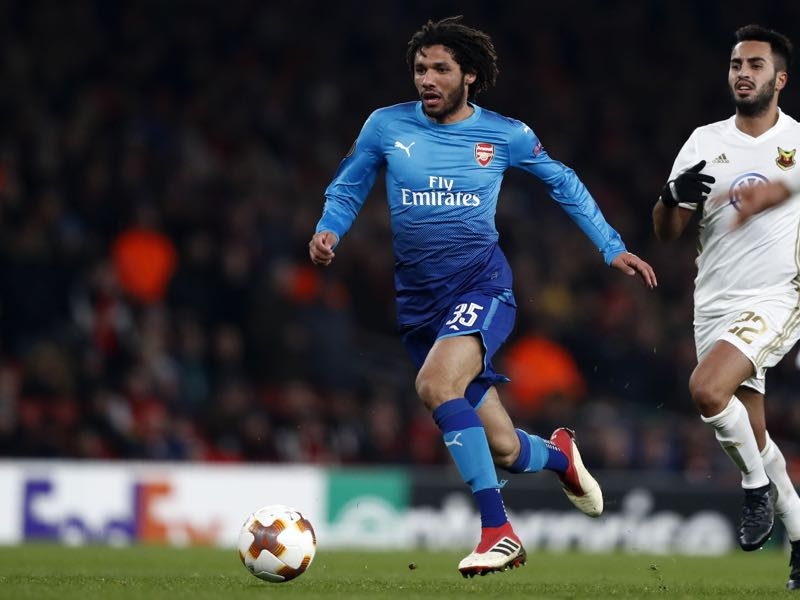 Mohamed Elneny is a fascinating Arsenal prospect. (ADRIAN DENNIS/AFP/Getty Images)