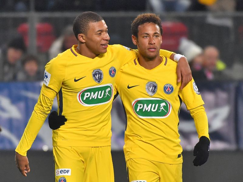Signing Kylian Mbappé and Neymar meant there was no money left to strengthen other areas of the squad. (LOIC VENANCE/AFP/Getty Images)