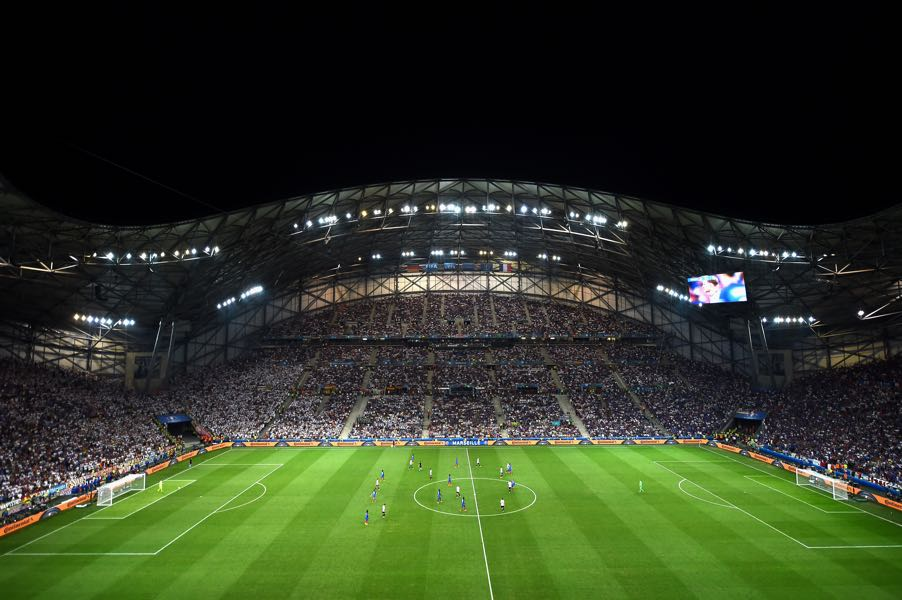 Olympique Marseille vs RB Leipzig will take place at the Stade Velodrome (Photo by Laurence Griffiths/Getty Images)