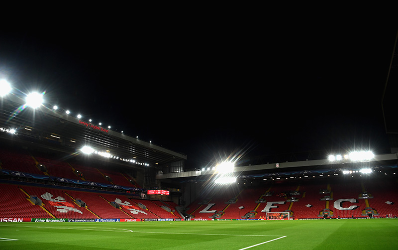 Liverpool vs Barcelona will take place at the magical Anfield Road stadium in Liverpool on Tuesday night.(Photo by Michael Regan/Getty Images)