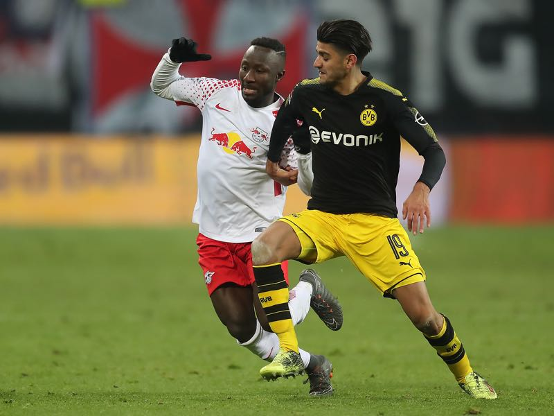 Leipzig vs Dortmund - Mahmoud Dahoud was the player of the match. (Photo by Boris Streubel/Bongarts/Getty Images)