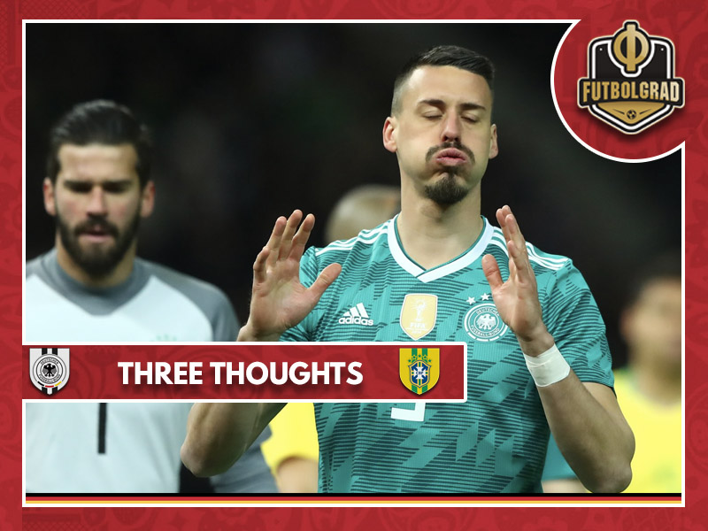 Three thoughts from Germany's 1-0 defeat to Brazil