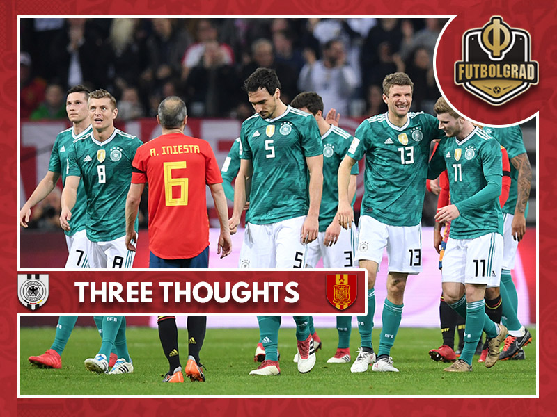 Three thoughts from Germany v Spain