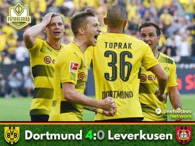 Dortmund hammer Leverkusen in the Saturday night Topspiel