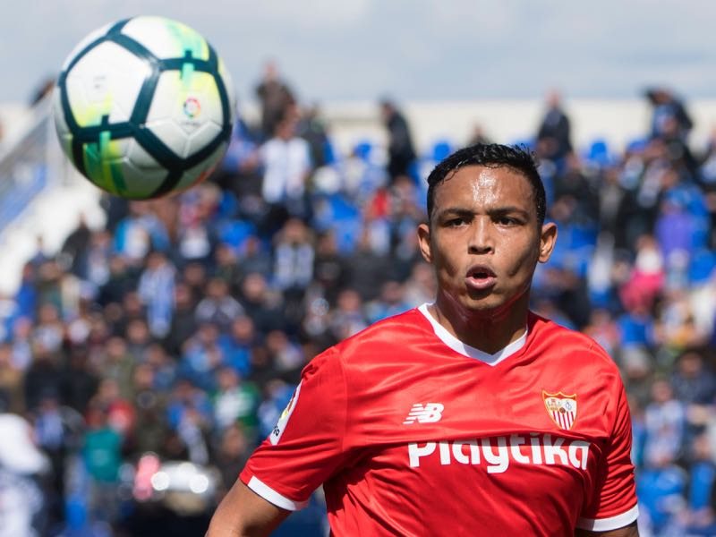 Sevilla are hoping that Luis Muriel can become a more consistent goalscorer. (CURTO DE LA TORRE/AFP/Getty Images)