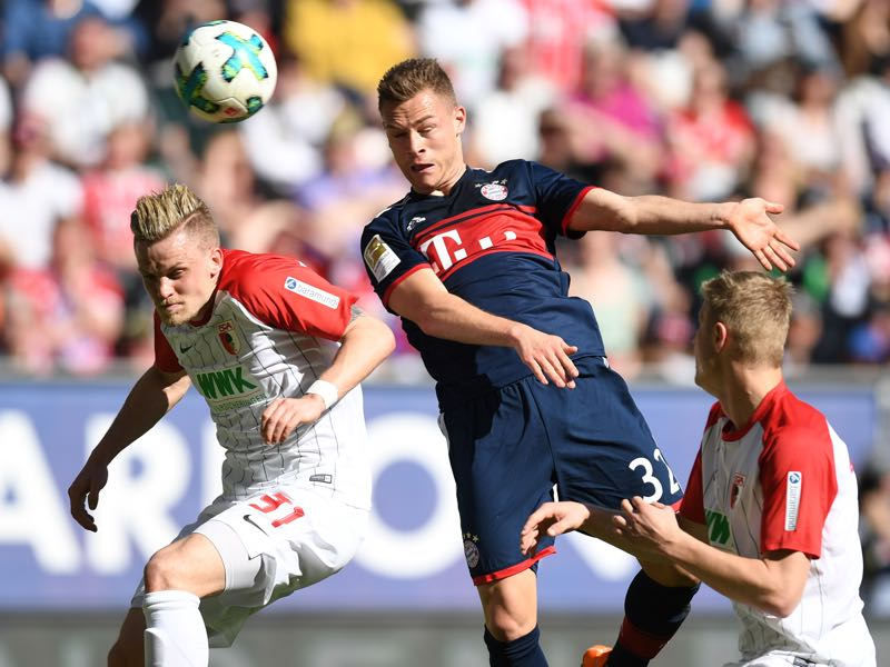 Augsburg vs Bayern - Joshua Kimmich won the man of the match award. (CHRISTOF STACHE/AFP/Getty Images)
