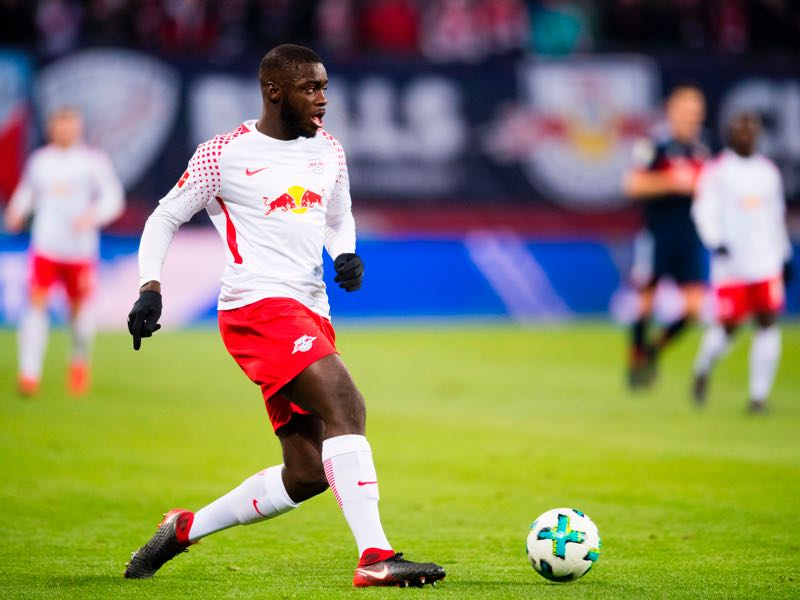 Dayot Upamecano will anchor Leipzig's defence against Marseille. (ROBERT MICHAEL/AFP/Getty Images)