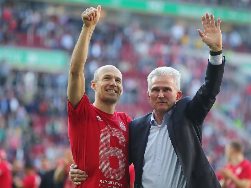 Heynckes has done a wonderful job at Bayern managing old stars like Arjen Robben. Photo by Alexander Hassenstein/Bongarts/Getty Images)
