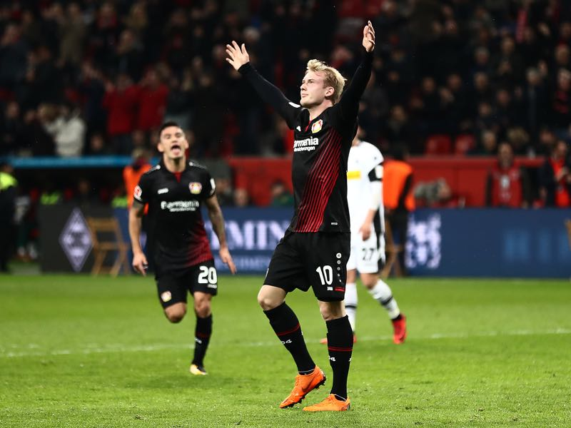 Julian Brandt has been in excellent form this season. (Photo by Lars Baron/Bongarts/Getty Images)