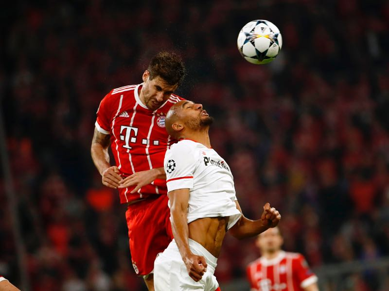 Bayern v Sevilla - Javi Martínez was the man of the match. (ODD ANDERSEN/AFP/Getty Images)