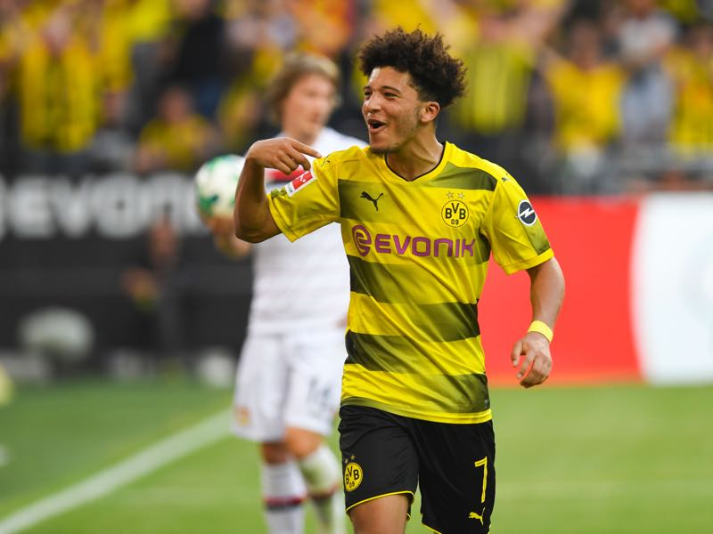 Jadon Sancho is one of the most exciting young players in Europe. (PATRIK STOLLARZ/AFP/Getty Images)