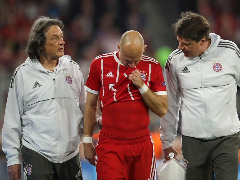 Arjen Robben's injury had a big impact on the semifinal between Bayern and Real (Photo by Alexander Hassenstein/Bongarts/Getty Images)