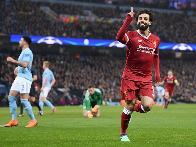 Manchester City v Liverpool - Mohamed Salah was the man of the match. (Photo by Laurence Griffiths/Getty Images,)