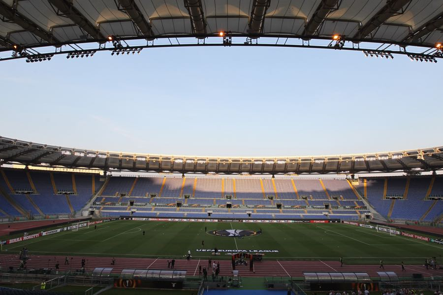 Lazio vs Salzburg will take place at the Estadio Olimpico in Rome. (Photo by Paolo Bruno/Getty Images)